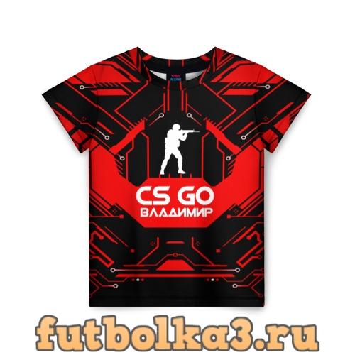Футболка Counter Strike-Владимир детская