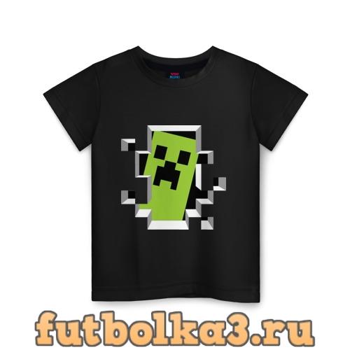 Футболка Crash Minecraft детская