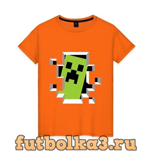 Футболка Crash Minecraft женская