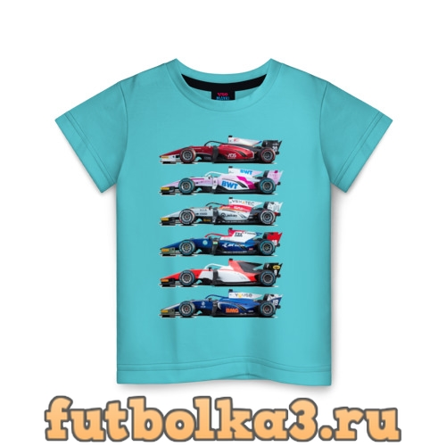 Футболка F1 Болиды 2 детская
