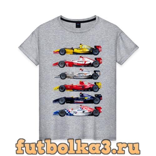 Футболка F1 Болиды 3 женская