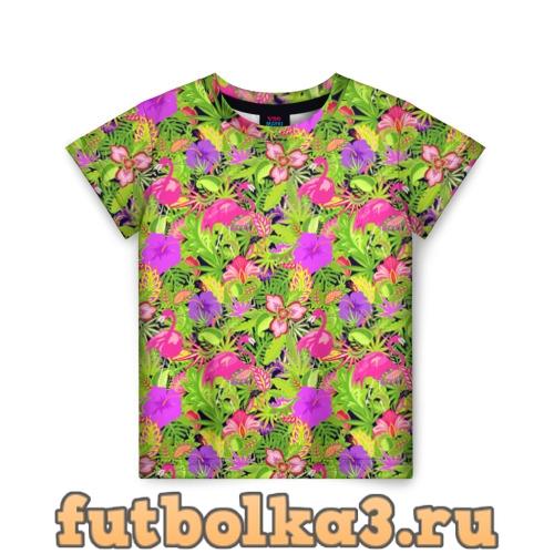 Футболка Flamingo   Tropical детская