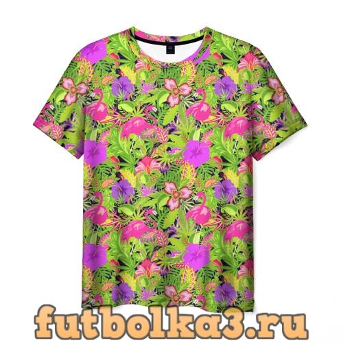Футболка Flamingo   Tropical мужская