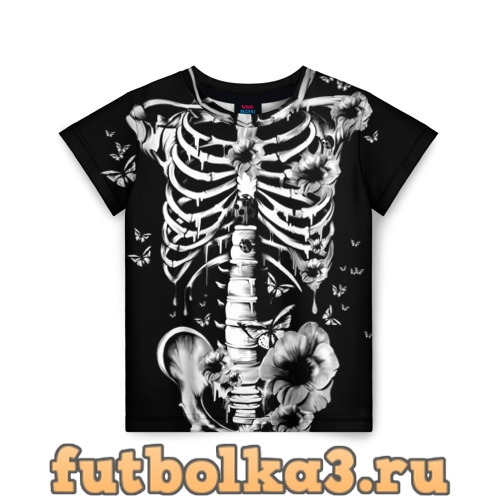 Футболка Floral Skeleton детская