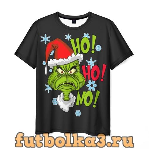 Футболка Grinch Face No! No! No! мужская