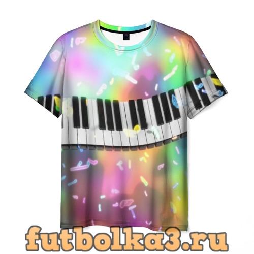 Футболка music  мужская