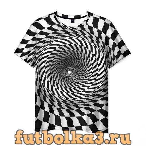 Футболка Оптические квадраты мужская