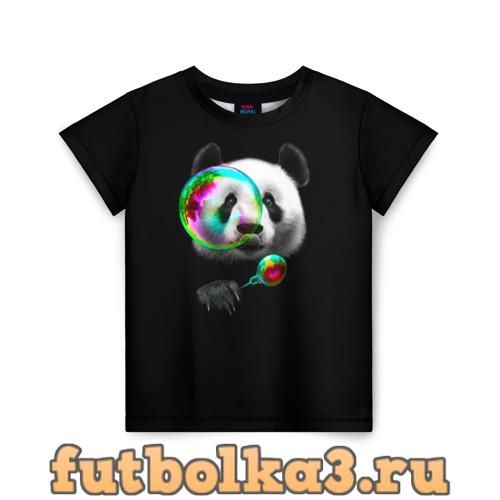 Футболка Панда и мыльный пузырь детская