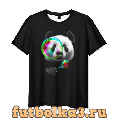 Футболка Панда и мыльный пузырь мужская
