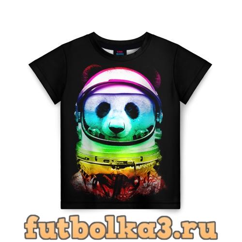 Футболка Панда космонавт детская