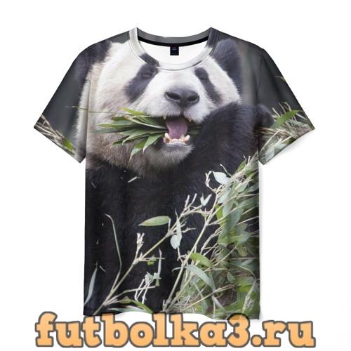 Футболка Панда кушает мужская