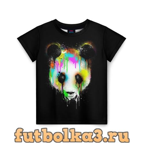 Футболка Панда в краске детская