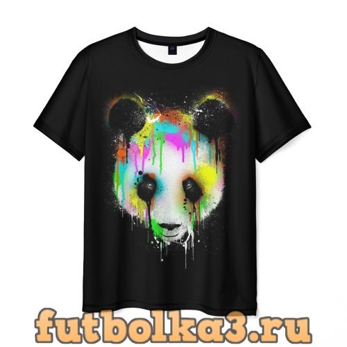 Футболка Панда в краске мужская