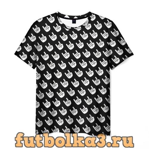 Футболка Паттерн Рок коза мужская