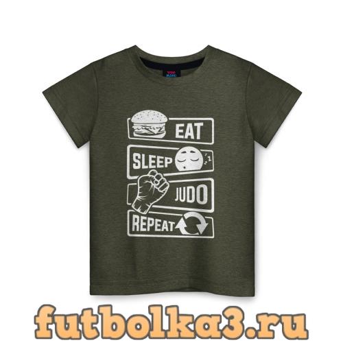 Футболка Есть, спать, дзюдо детская