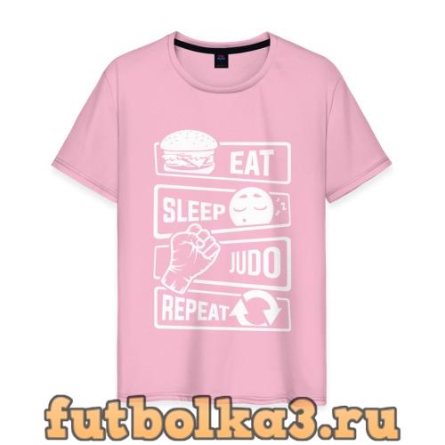 Футболка Есть, спать, дзюдо мужская