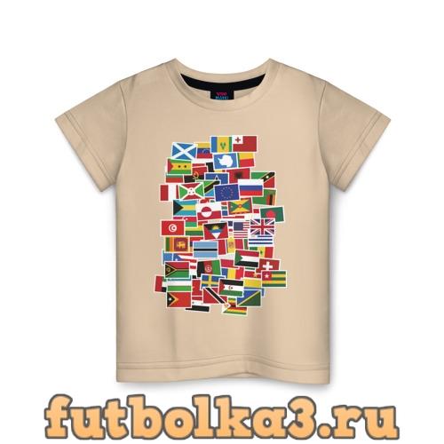 Футболка Flag sticker bombing детская