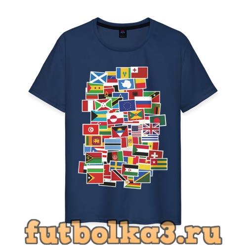 Футболка Flag sticker bombing мужская