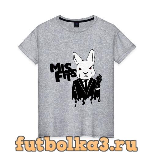 Футболка Кролик misfits женская