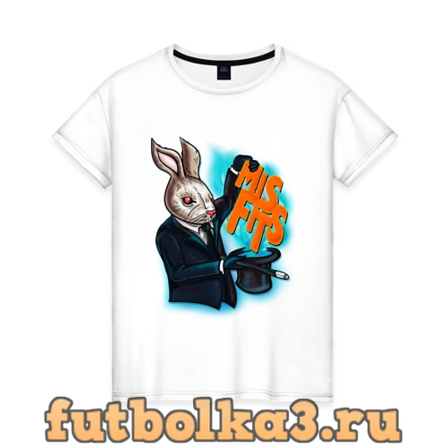 Футболка Кролик-психопат женская
