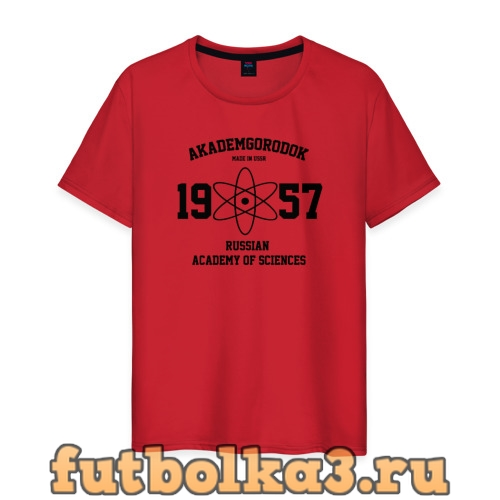 Футболка Новосибирск, Академгородок мужская