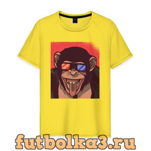 Футболка Обезьяна 3D мужская