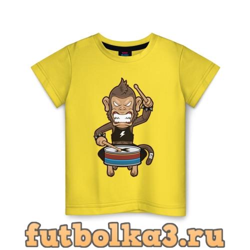 Футболка Обезьяна и барабан детская