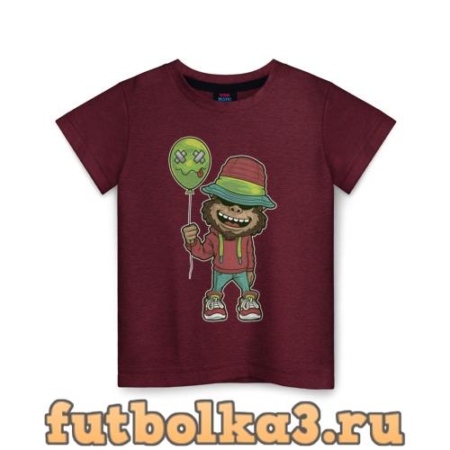Футболка Обезьяна с шариком детская