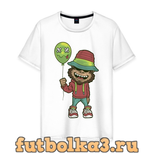 Футболка Обезьяна с шариком мужская