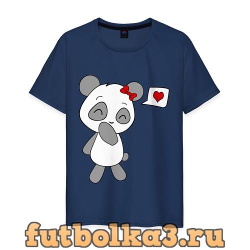 Футболка Панда девочка(парная) мужская