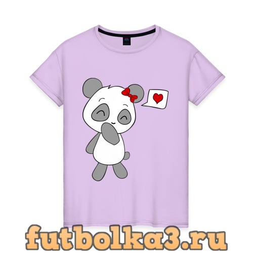 Футболка Панда девочка(парная) женская
