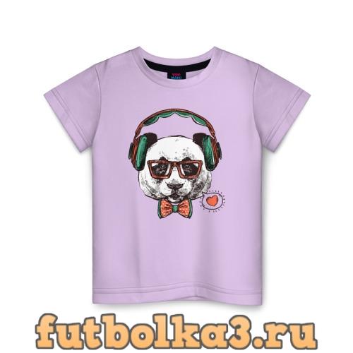 Футболка Панда хипстер детская