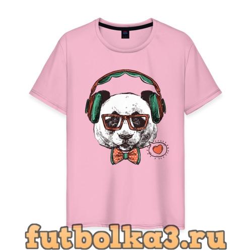 Футболка Панда хипстер мужская