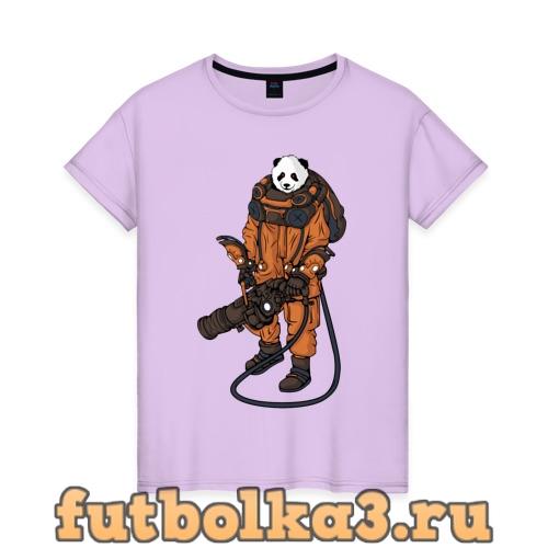 Футболка Панда Космонавт женская