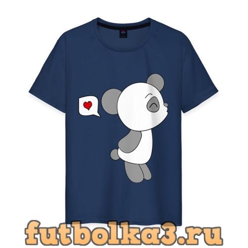 Футболка Панда мальчик (парная) мужская