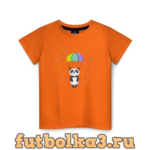 Футболка Панда на парашюте детская