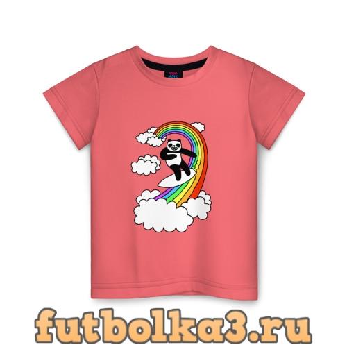 Футболка ПАНДА НА РАДУГЕ детская