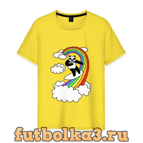 Футболка ПАНДА НА РАДУГЕ мужская
