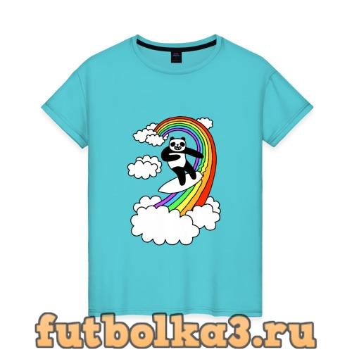 Футболка ПАНДА НА РАДУГЕ женская