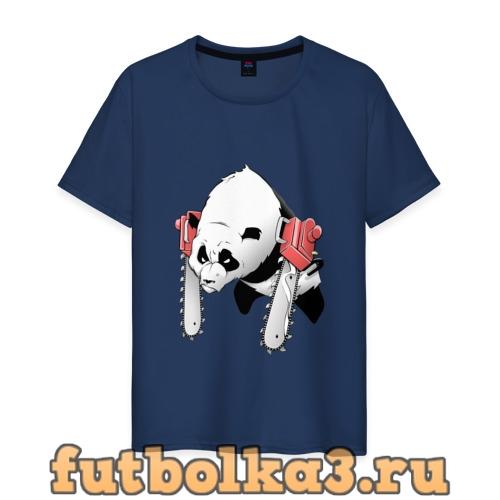 Футболка Панда - руки бензопилы мужская