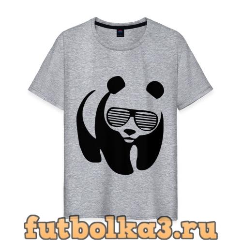 Футболка Панда в очках жалюзи мужская