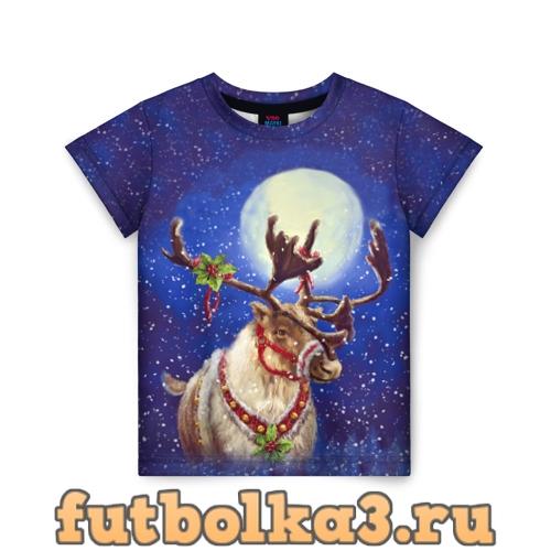 Футболка Christmas deer детская