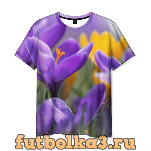 Футболка Фиолетовые цветы мужская