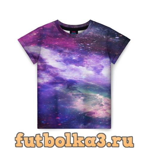 Футболка фрактал космос детская