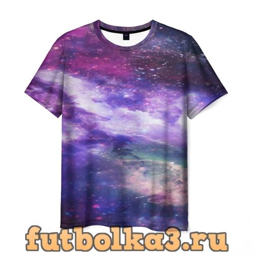 Футболка фрактал космос мужская