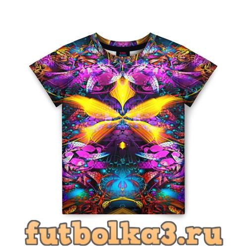 Футболка ФРАКТАЛЬНЫЕ ЦВЕТЫ детская