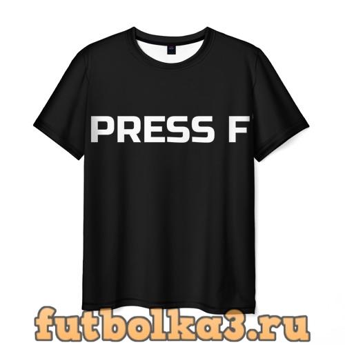 Футболка Футболка с надписью PRESS F мужская