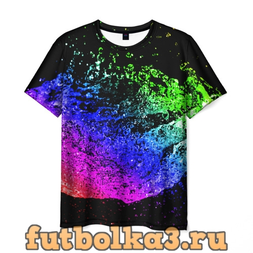 Футболка КАПЛИ В НЕОНЕ мужская