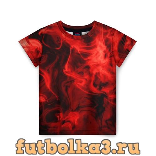 Футболка Красный дым детская