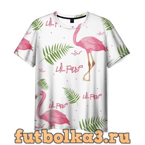 Футболка Lil Peep pink flamingo мужская